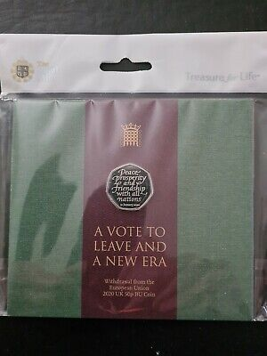 2020 Royal Mint Withdrawal From The EU Brexit 50p Fifty Pence Coin Pack Sealed • 4.99£