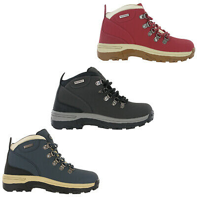 £29.95 • Buy Womens Leather Walking Boots Wyre Valley Waterproof Hiking Comfort Shoes 4-8