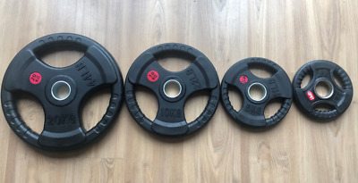 AU30 • Buy 2.5KG - 20KG Olympic Rubber Coated Weight Plates Barbell Fitness Weightlifting