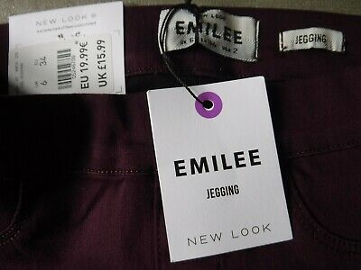£10 • Buy Bnwt Emilee Pull On Jegging Size 6 New Look Jeans Burgundy Red Maroon 32 Leg