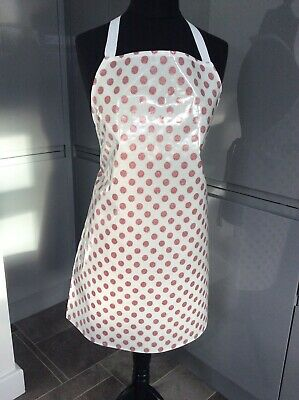 Adult/ladies Apron Cooking/craft Pvc Wipe Clean Sparkle Spots Design. Ideal Gift • 8£