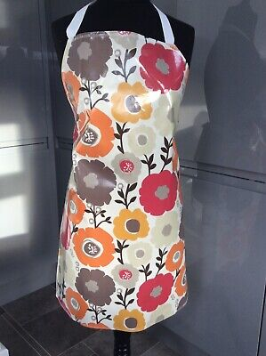 Adult/ladies Apron Cooking/craft Pvc Wipe Clean Flowers Design. Ideal Gift • 8£