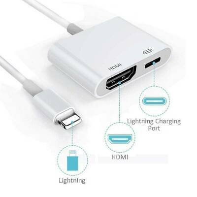 Lightning To HDMI Digital TV AV Adapter Cable For Apple IPhone IPad 5 6 7 8 Plus • 6.79£