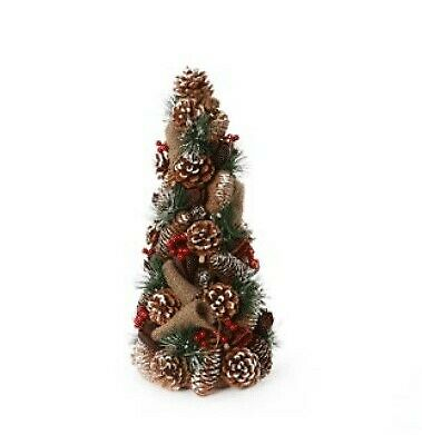 Christmas Tree Berry & Hessian Suitable For Table Top 45cm • 9.99£