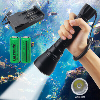 AU67.67 • Buy Powerful XHP70.2 LED Diving Scuba Flashlight Rechargeable Torch Underwater 100M