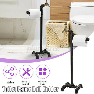 AU35.99 • Buy Industrial Iron Toilet Paper Tissue Rack Holder Stand Storage Home Bathroom AU