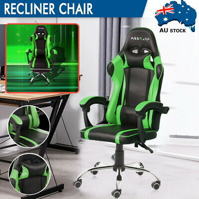 AU40.99 • Buy Executive Office Chairs Computer Gaming Chair Racer Recliner Seat PU Leather AU