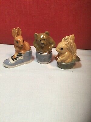 £18.75 • Buy Wade. Family Favourites.Hattie Squirrel,Tubby Bear,Boots Rabbit.(3)Boxed.2000.