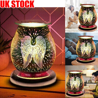 £16.49 • Buy UK Electric 3D Glass ANGEL WINGS Oil Wax Melt Burner Fragrance Aroma Touch Lamp