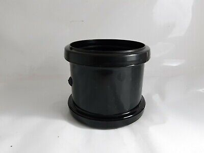 1 X 110mm Soil Double Pipe Coupler Black Pipe Waste Fitting Connector Coupling • 2.90£