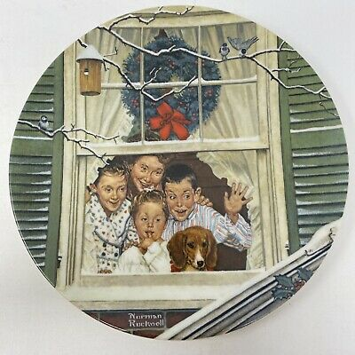 $ CDN12.58 • Buy Norman Rockwell Surprises For All Christmas Edition Vintage 1980 Plate