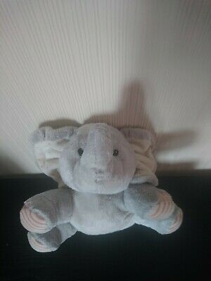 Elliot And Buttons Elephant Baby Girl Teddy Plush Beanie Soft Toy • 5£
