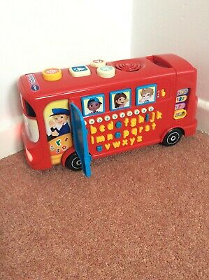 VTech Playtime Bus With Phonics In VGC Working With Sounds • 9.99£