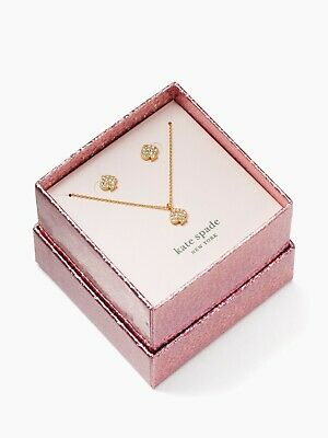 $ CDN50.20 • Buy NWT NWT KATE SPADE Signature Spade Pave Pendant Necklace Stud Earrings Boxed Set