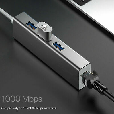 AU16.90 • Buy Aluminum 3x USB 3.0 To Type C HUB With 1000M RJ45 Ethernet Port Adapter Win Mac