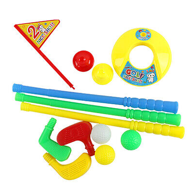 Kids Mini Golf Club Set Toys Indoor Outdoor Leisure Sports Practice Plastic CO • 7.89£