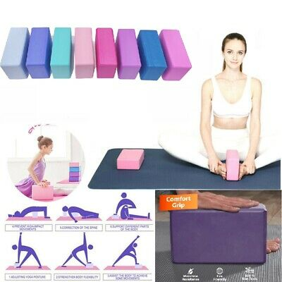 Yoga Block Fitness Foam Yoga Brick Pilates Balance Stretching Exercise Workout • 5.59£