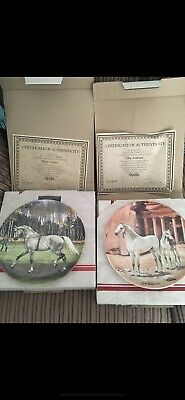 Spode Collectors Beautiful Horse Plates 2X Plates With Box And Certificate • 9.99£