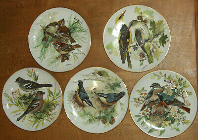 Collectors Platesgroup Of 5  Alt Tirschenreuth Ceramic Wall Plates Wild Birds  • 20£