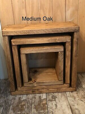 Rustic Pine Cube Nest Of Tables  • 66£