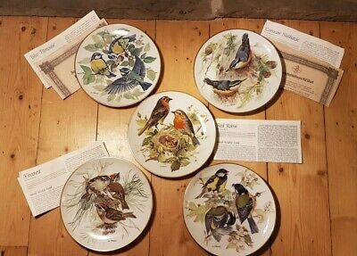 Vintage Collectable Plates:  European Songbirds  Collection By Ursula Band X 5 • 16.49£