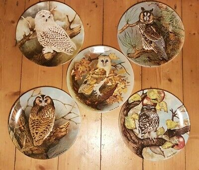 The Wise Owl  Collectors Plates X 5 By Michael Sawdy • 14.99£