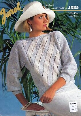 ~ Jarol Knitting Pattern For Lady's Boat Neck Dolman Sleeve Sweater ~ 26  ~ 40  • 1.85£