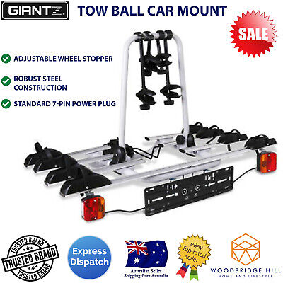 AU241.84 • Buy 4 Bicycle Tow Bar Bike Carrier Steel Frame Car Bicycle Rack With Tow Ball Mount