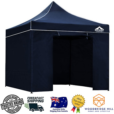 AU156.96 • Buy 3x3m Tent Heavy Duty Gazebo Instahut Portable Outdoor Canopy Ground Marquee Navy