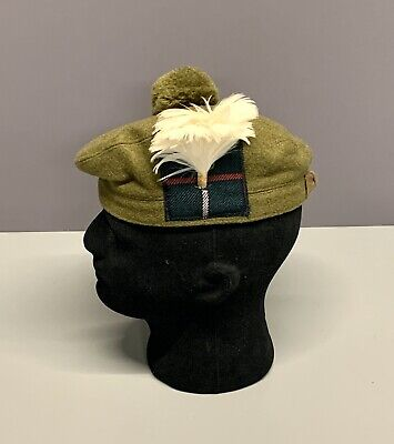 British Army-Issue Royal Highland Fusiliers Tam O Shanter & Hackle. Size 54cm. • 22.99£