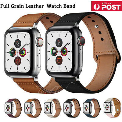 AU13.49 • Buy 【Genuine Leather】For Apple Watch IWatch Band Strap Series 6 5 4 321 3840 42 44mm