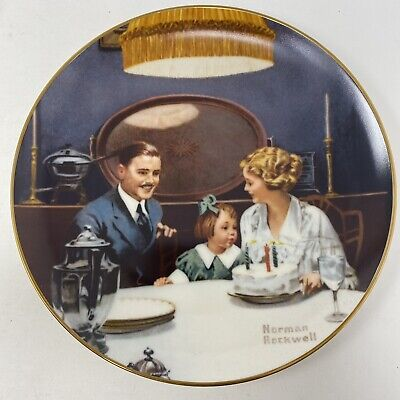 $ CDN12.96 • Buy Norman Rockwell The Birthday Wish Light Campaign Series Vintage 1984 Plate