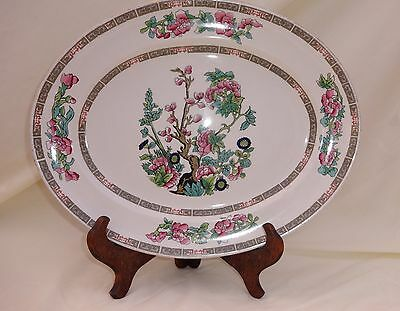 Vintage Sampson Bridgwood Ironstone Oval Serving Platter Indian Tree Pattern • 7.99£