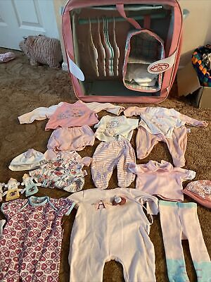 Baby Annabell Bundle,wardrobe Hangers Clothes Tights Nappies Full List • 34.99£