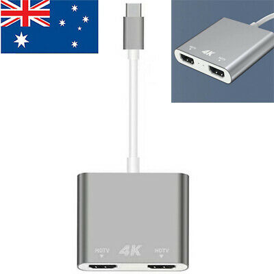 AU33.83 • Buy Adapter USB C To HDMI Dual 4K 60hz Converter Adapter High Speed Dual Monitor AU