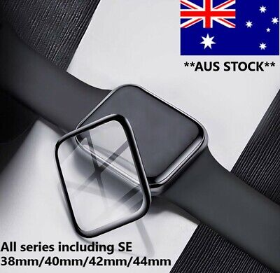 AU6.49 • Buy For Apple Watch IWatch 6 5 4 3 2 1 SE 38 42 44 Mm Glass FULL Screen Protector