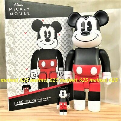 $129.99 • Buy Bearbrick Medicom 2020 Disney Mickey Mouse Red & White 100% 400% Be@rbrick R&W