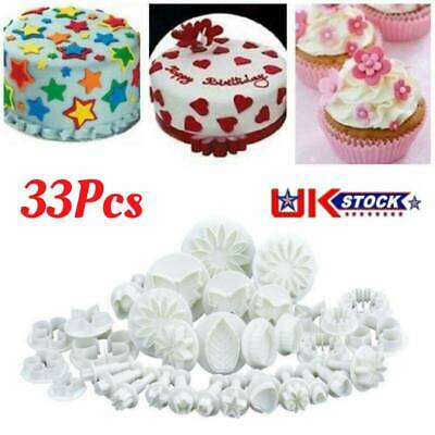 Plunger Cutters Cake Decorating Fondant Cookie Biscuit Mold Flower Set Baking UK • 8.99£
