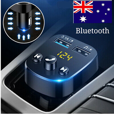 AU13.99 • Buy ✅Handsfree Wireless Bluetooth FM Transmitter Car Kit Mp3 Player USB Charger