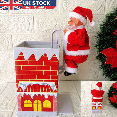 £4.39 • Buy Electric Christmas Santa Claus Doll Climbing Chimney Music Figure Toy Xmas Gifts