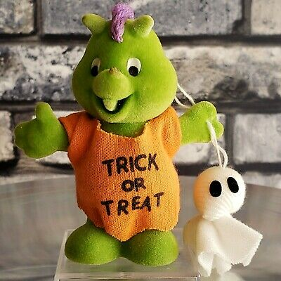 $ CDN129.74 • Buy VINTAGE HOUSE HAUNTERS Ornament Dragon 1987 Trick Or Treat Flocked CMAS Hallowee
