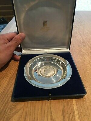 1977Sterling Silver Plate To Commemorate Silver Jubilee From Pobjoy Mint. 1/3000 • 25£