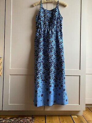 Yumi Girls Maxi Dress, Age 11-12, Blue Floral JOHN LEWIS £40 Worn Twice • 12£