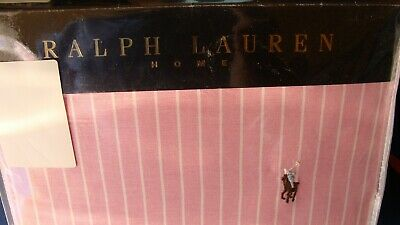 Ralph Lauren Super King Size Duvet Set In Wide Stripe Oxford / Pink • 220£