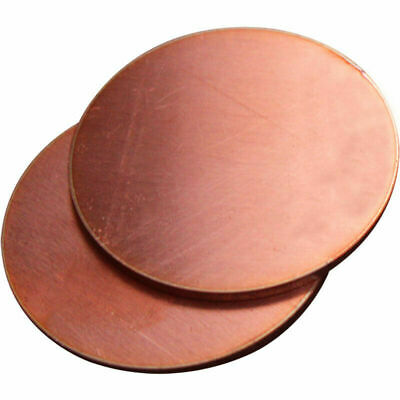 £10.83 • Buy Pure Copper Disc Sheet Blanks Round Circle Gasket Plate Anode Electrode 2mm