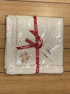 Cath Kidston Christmas Napkins X 4 - Embroidered Brand New • 19.99£