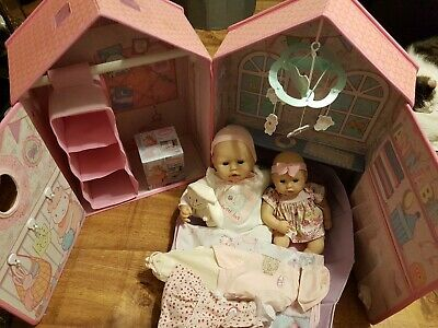 Baby Annabell Dolls House / Bedroom / Wardrobe Plus Extras • 49.99£