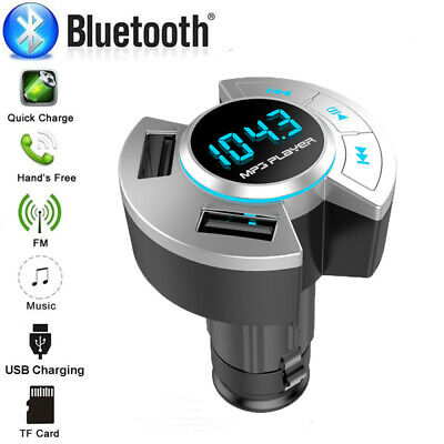 AU12.21 • Buy Bluetooth Car Kit Handsfree Wireless FM Transmitter MP3 Player USB Car Charger