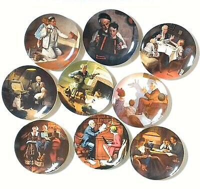 $ CDN50.59 • Buy Lot Of 9 Edwin M Knowles Norman Rockwell Collector Plates Booklets COAs EUC