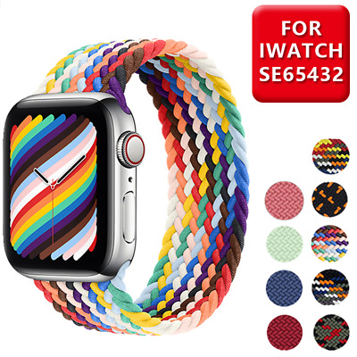 $ CDN8.89 • Buy Braided Solo Loop Fabric Strap Band For Apple Watch Series 6 SE 5 4 3 2 1 40/44